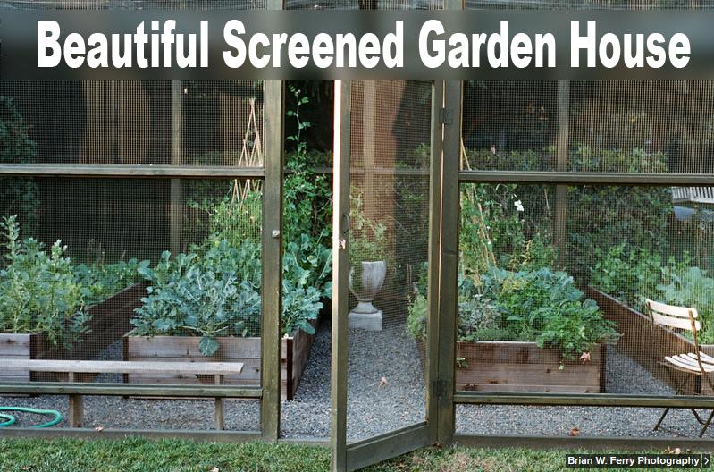 Beautiful Screened Garden House, I Want One!