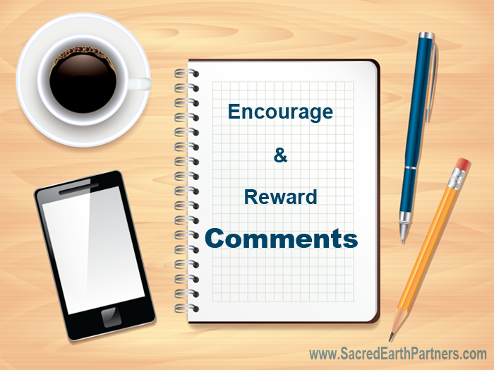 encourage and reward comments